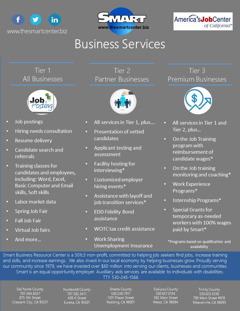 Business Services White Background Flyer Image