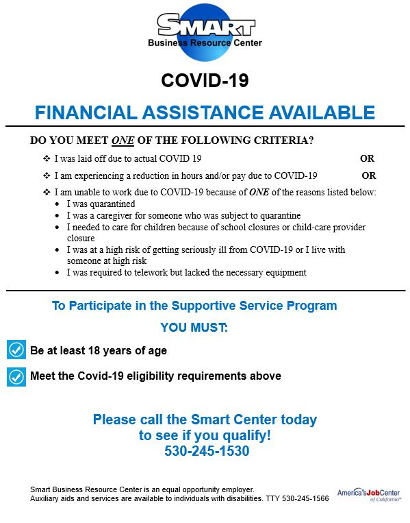 COVID Assistance Flyer Image