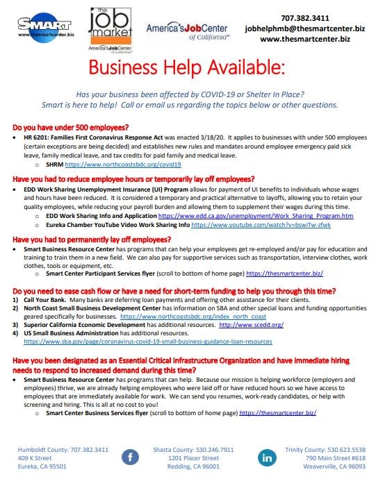 SMART Covid Help Businesses Flyer Image