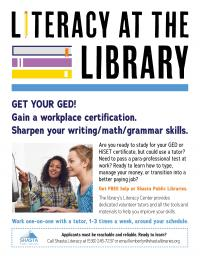 Literacy At The Library Flyer